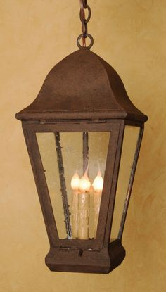 Vintage black wrought iron lantern made in by shopvintageusamade exterior pendant light for an entryway or porch the perfect wrought iron lighting for a mozeypictures Images