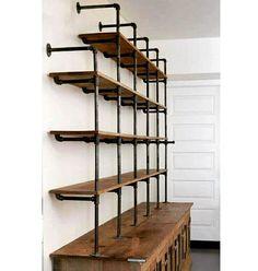 WEBSTA @ classic_woodworking - Deon Morris architect Gas pipe shelf and reclaimed wood. Would be a great media or liquor shelf in a man cave!..._________________________#design #art #artist #creative #industrialdesign #designstudio #designinspiration #furniture #furnituredesign #beautiful #homedecor #woodworking #woodwork #woodshop #craft #diy #woodcraft #tools #carpenter #carpentry #chisel #handplane #roubo #dovetails #workbench #handtools #handmade #woodcarving #logcabin