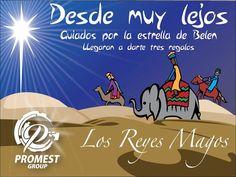 """""""La estrella de belén les señalo el camino y ellos llegaron con obsequios para el niño Dios, este es el día  de reyes, una día lleno de alegría y esperanza de un mundo mejor"""" #Felizdíadereyes #Navidad #6deenero #Reyesmagos #navidades2017 #Promestgroup"""