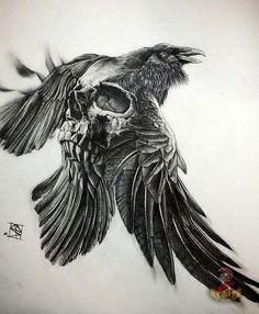 Wikinger Rabe Tattoo tattoo - tattoo quotes - tattoo fonts - watercolor tattoo Tattoo f Clown Tattoo, Skull Tattoos, Body Art Tattoos, Sleeve Tattoos, 3d Tattoos, Drawing Tattoos, Crazy Tattoos, Arabic Tattoos, Tattoo Wallpaper