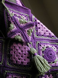 Inspiration. Love these colors!  crocheted afghan