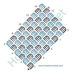 Corner to Corner (C2C) Crochet Chart Pattern created using the HookinCrochet Crochet Symbols Font Software