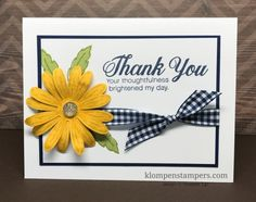 Daisy Delight by Stampin' Up! is perfect for quick and easy cards. All details posted at klompenstampers.com