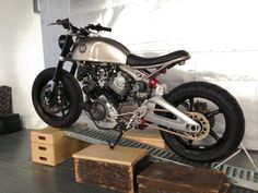 The latest build from Classified Moto in the studio