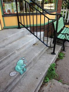 Amazing Street art of David Zinn Sluggo 232 70+ Sidewalk Chalk Art Of Sluggo By David Zinn