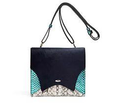 Blue pony and watersanke crossbody bag fev by Francesca Versace