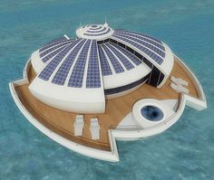 future, Solar Floating Resort, SFR, Michele Puzzolante, luxury, futuristic, yacht, watercraft, solar power, vehicle, alternative energy, water