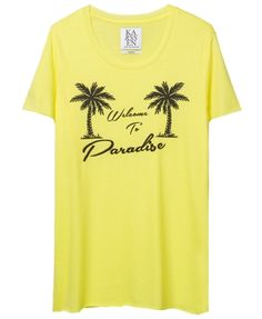WELCOME TO PARADISE LOOSE FIT TEE EMBROIDERY