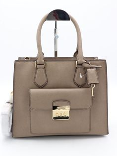 3905ec6912c8 NWT Michael Kors Bridgette Dark Dune Leather East West Tote Shoulder Bag  $358 #MichaelKors #Satchel