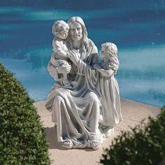 "Design Toscano Exclusive 28"" Jesus Loves the Little Children Garden Sculpture  #DesignToscanoExclusive"