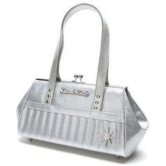 Lux De Ville - Starlight Kiss Lock Silver Sparkle Purse