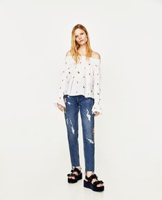 OFF-THE-SHOULDER TOP-TOPS-TRF | ZARA United States