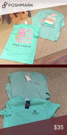 NWT simply southern medium bundle 2 shirts, both new with tags and size medium.  One short sleeve and 1 long sleeve. simply southern Tops Tees - Short Sleeve