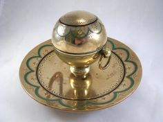 Rare Asprey Victorian Gilded Bronze Inkwell by MacArthurAntiques, $655.00