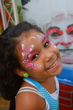 beautiful design by Jasmin Walsh face painting ideas for kids