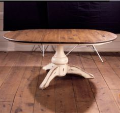 Ideas Kitchen Table Pallet Decks For 2019 Oval Kitchen Table, Kitchen Table Makeover, Small Kitchen Cabinets, Kitchen Island Decor, Oval Table, Trestle Dining Tables, Dinning Table, Farm Tables, Dining Rooms