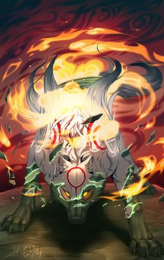 Okami - Amaterasu's Revival by Grypwolf.deviantart.com on @deviantART