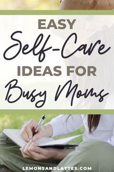 Self-care often gets pushed to the bottom of the priority list when you're a busy mom. Here are 20 quick and easy self-care tips for moms to keep you feeling sane. #selfcare #mentalhealth #motherhood