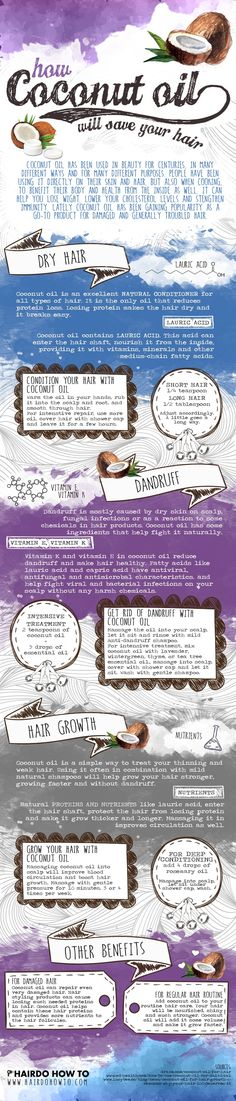 Ever wondered if coconut oil was good for something else rather than your inner health? Well this infographic by Hairdohowto.com is the guide you've been looking for. And your hair will love you for it.