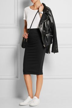 Casual Fall Outfits That Will Make You Look Cool – Fashion, Home decorating Black Pencil Skirt Outfit, Long Pencil Skirt, Pencil Skirt Casual, Stretch Pencil Skirt, Pencil Skirt Outfits, High Waisted Pencil Skirt, Pencil Skirts, Casual Skirts, Casual Outfits