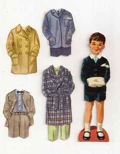 BRIDAL PARTY English Paper Dolls circa 1960s § Joe, Ring Bearer