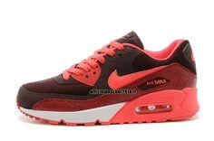 best service 5f695 22cef Officiel Nike Air Max 90 SJX Chaussures Nike Sportswear Pas Cher Pour Femme  Rouge - Brown