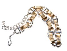 Givenchy Chunky Chain Link Necklace | From a unique collection of vintage link necklaces at https://www.1stdibs.com/jewelry/necklaces/link-necklaces/