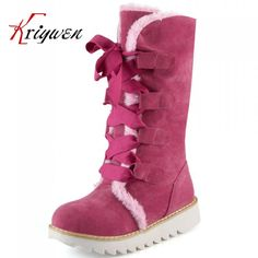 (68.68$)  Watch here - http://aie2k.worlditems.win/all/product.php?id=32376863274 - wholesale New Fashion Australia classic tall winter boots suede Bowknot women's shoes mid-calf boots flat shoes Big size 34-43