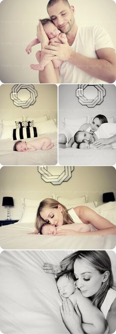 Beautiful newborn photos... with mommy and daddy :)