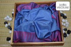 Sarees Contemporary Kota Viscose Silk Printed Saree  *Fabric* Saree - viscose silk, Blouse - viscose silk  *Size* Saree - 5.50 Mtr, Blouse - 1.00 Mtr  *Work* Printed  *Sizes Available* Free Size *   Catalog Rating: ★4.1 (250)  Catalog Name: Attractive Pretty Kota Viscose Silk Printed Sarees CatalogID_133607 C74-SC1004 Code: 195-1089232-