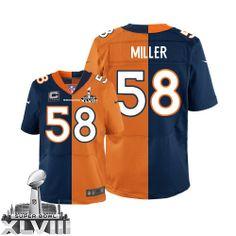 Von Miller Game Jersey-80%OFF Nike Two Tone Von Miller Game Jersey at Broncos Shop. (Game Nike Men's Von Miller Alternate/Team Two Tone Super Bowl XLVIII Jersey) Denver Broncos #58 NFL Easy Returns.