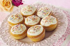 This basic fairy cakes recipe is ideal for beginners. It's a simple recipe that can be made and decorated with kids. This recipe makes 12 fairy cakes and will take around 35 mins to prepare, bake and decorate. These party favourites are great to make with the kids. And the best thing about these fairy cakes is you can decorate them as creatively as you like. Once you've mastered this basic fairy cakes recipe you can try other variations including chocolate fairy cakes, strawberry or even red…
