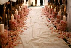 i really like this idea for the aisle runner