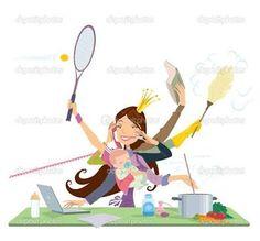 mujer haciendo muchas cosas imagen - Buscar con Google