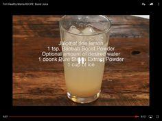 THM Boost Juice with baobab boost powder