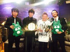 「映画『新宿スワンII』公開記念特番」より、左から上地雄輔、綾野剛、武尊、金子ノブアキ。