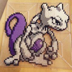 Mewtwo - Super Smash Bros. perler beads by spencer_ruskie
