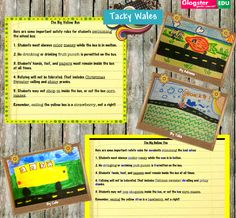 Elementary iPad Lesson teaching literacy and parts of speech with Tacky Wales app.
