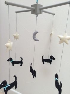 Dachshund Mobile Baby Mobile Baby Decor by WeenieWarmers