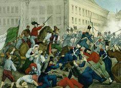 Entrada de Giuseppe Garibaldi en Palermo el 27 de mayo de 1860, por Ippolito Nievo. MUSEO DEL RISORGIMENTO, PALERMO, Italia.