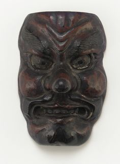 """freersackler: """" Still need a Halloween costume? This demon mask is the perfect scary accessory. It was made in Japan sometime between the seventeenth and eighteenth centuries. Masks have a long and. Oni Demon, Japanese Oni, Freer Gallery, Japanese Mythology, Halloween This Year, National Museum, Asian Art, Art Forms, Body Painting"""