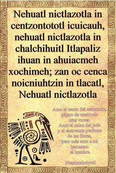 Náhuatl❤ Mexico Style, Mexico Art, Spanish Lesson Plans, Spanish Lessons, Aztec Religion, Mexican Phrases, Ancient Aztecs, Aztec Culture, Fancy Words