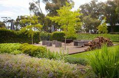 Flinders Garden - Ben Scott Garden Design   Outdoor firepit