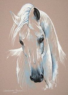 33 Horse Drawing Ideas With Crayon - Art Horse Drawings, Animal Drawings, Art Drawings, Horse Head Drawing, Drawing Animals, Drawing Art, Horse Artwork, Pastel Art, Pastel Drawing