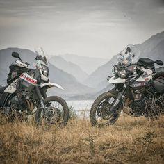 Yamaha XT 660 Z Tenere and Triumph Tiger 800 XCX. Beautiful Nature of Uzbekistan. Motorcycle Adventure Travel Rider. VISORHEAD.