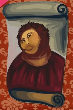 Elderly Woman's Hilarious Failed Attempt At Restoring A 19th Century Fresco In Borja, Spain reproduced in the Sims Social on FB <3 !