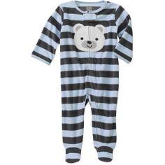 Child of Mine by Carters Newborn Boys' Striped Bear Sleep n Play: Baby Clothing- 6-9 months