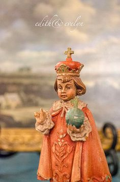 Antique Anri Infant of Prague Statue Wood Hand by edithandevelyn