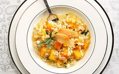 Risotto with pumpkin, goat's cheese and roasted quince - Greece Is
