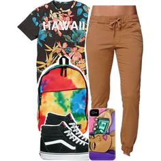 4:6:15 by codeineweeknds on Polyvore featuring Bullhead Denim Co., Vans and Neff